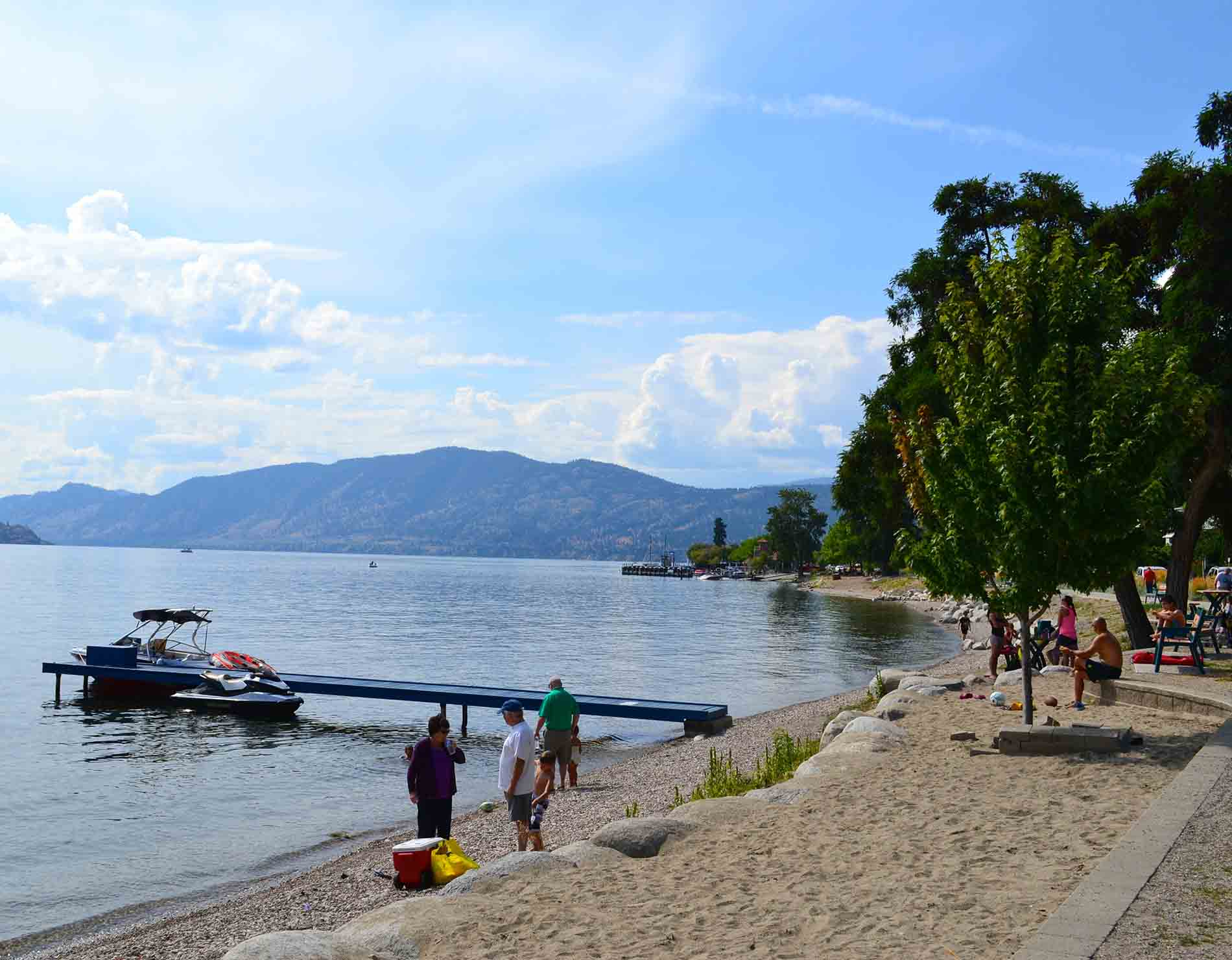 Beach in Peachland on Okanagan Lake