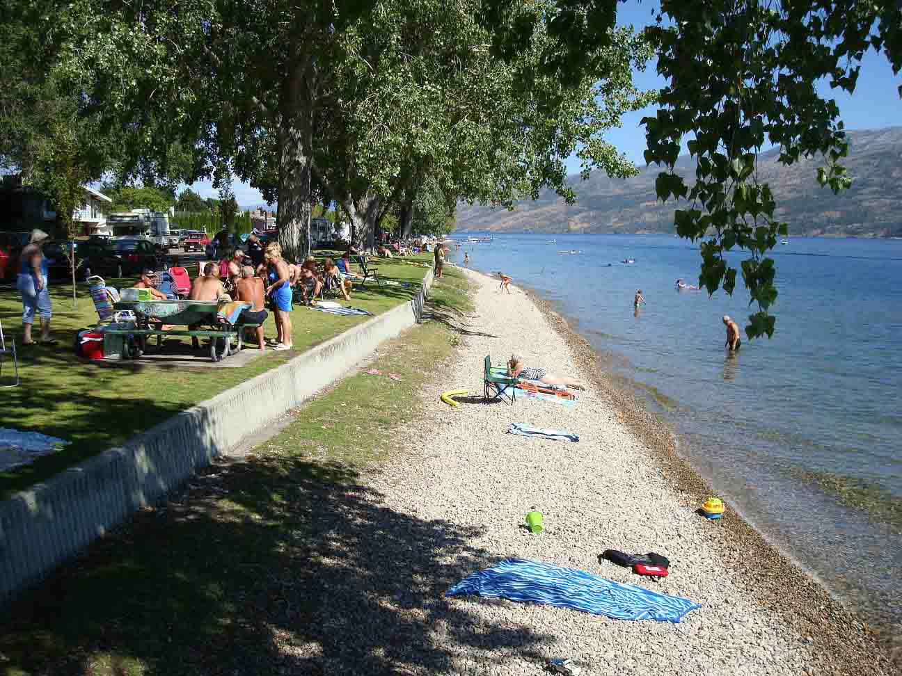Enjoy the Peachland Beach