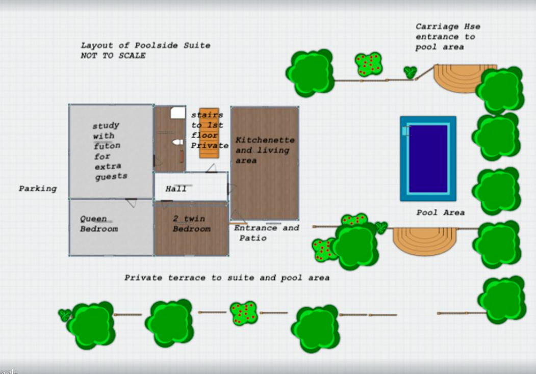Layout Of Poolside Suite
